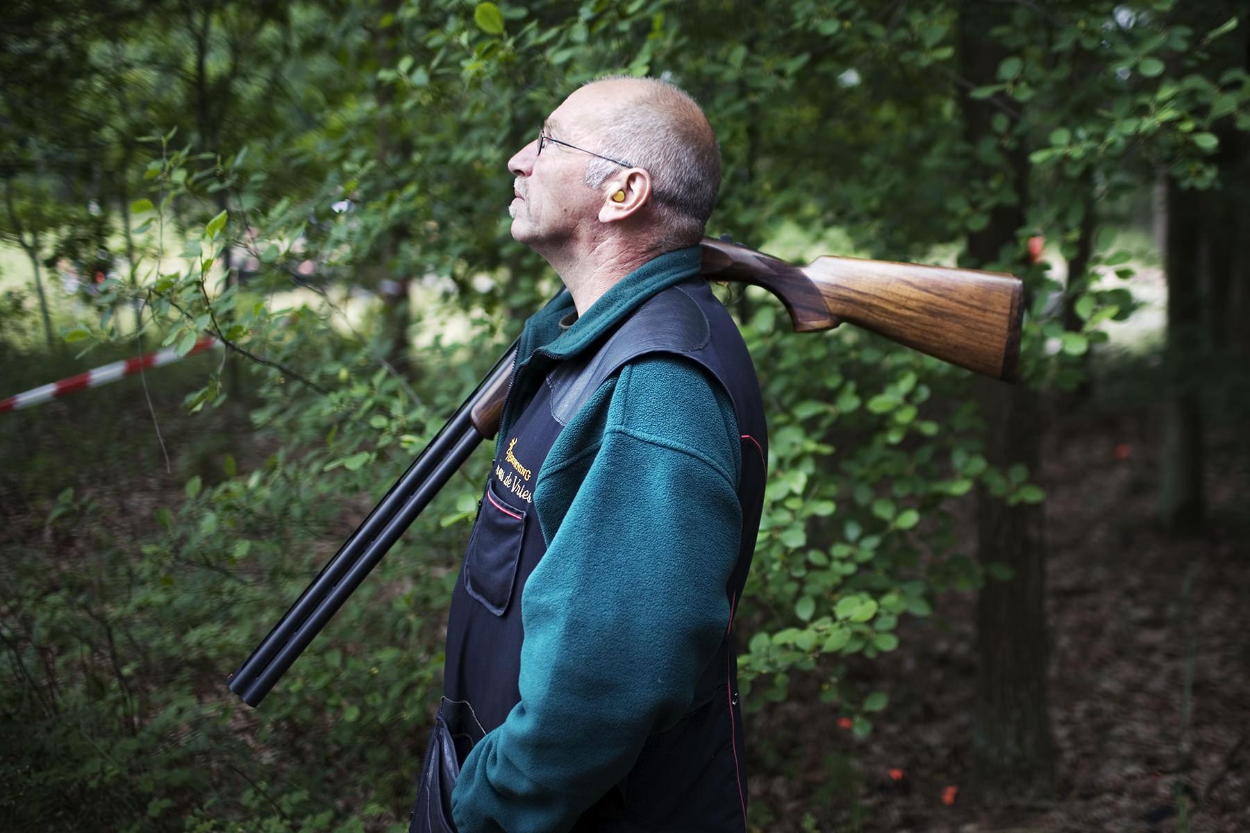 Fotograaf Groningen - Mannen en hun hobby's, kleiduifschieten