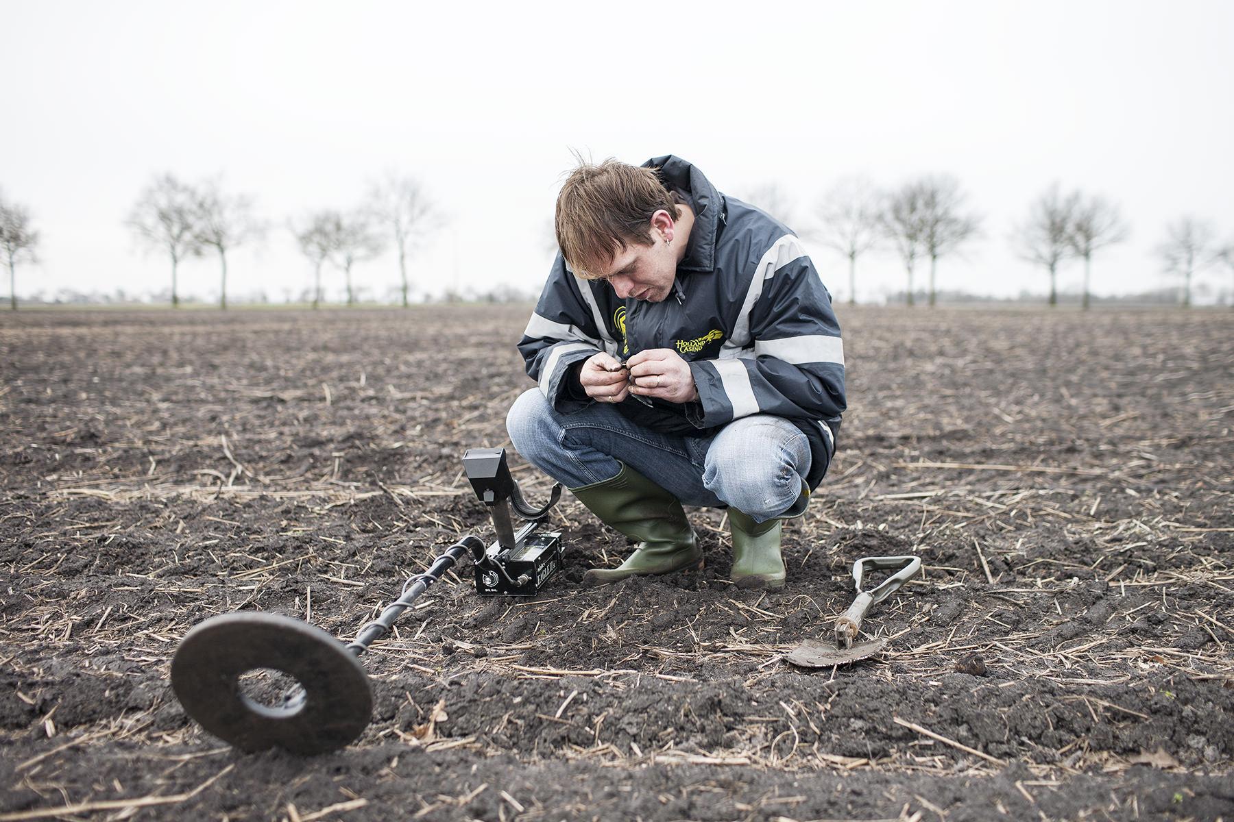 Fotograaf Groningen - Mannen en hun hobby's, schatzoeker, metaaldetector